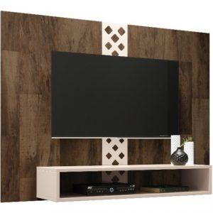 Panel Modular Con Rack Suspendido 1.20 Mts Para Tv 47´´